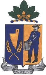 Kupa település címere